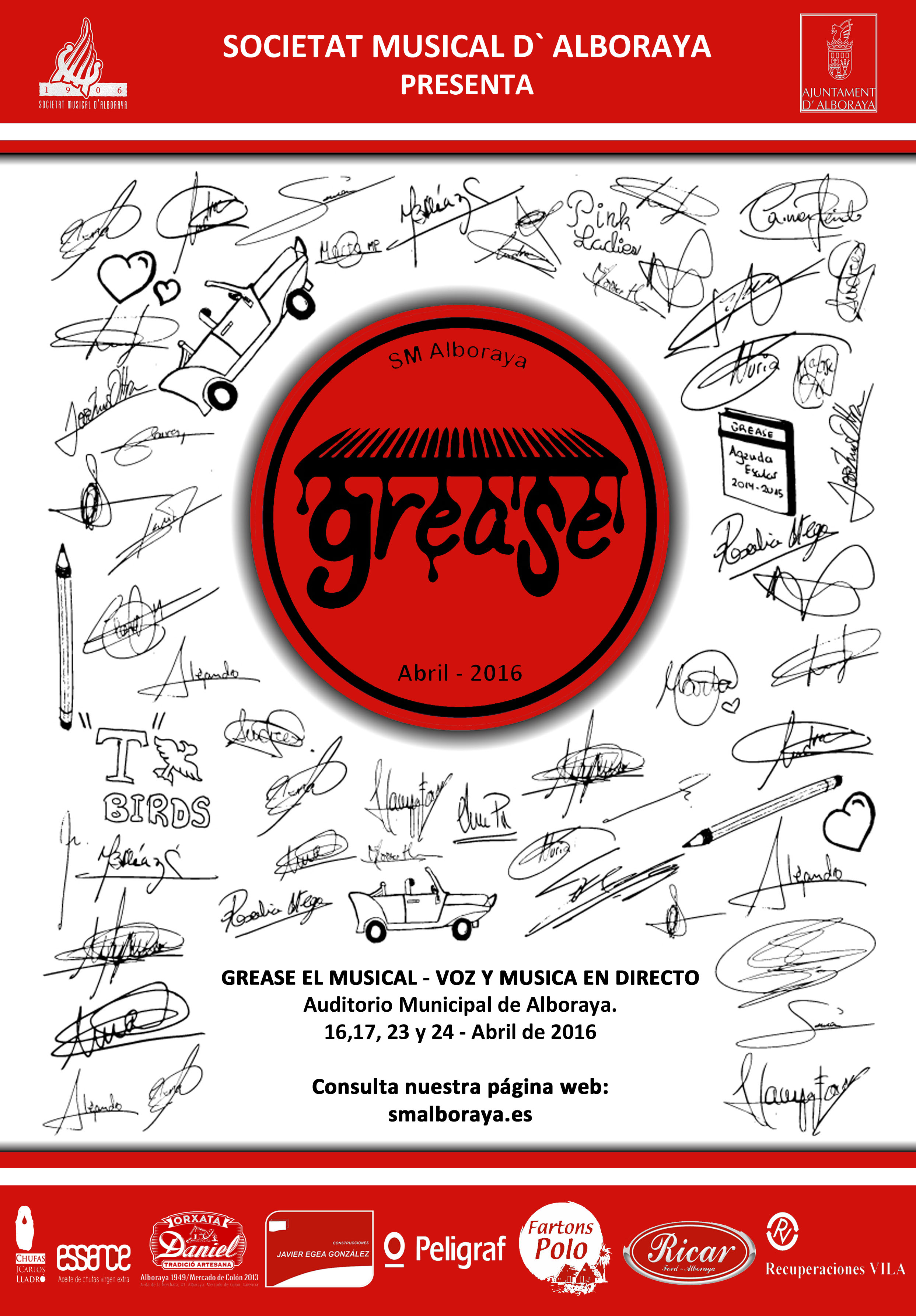 CARTEL GREASE 2016 - MODIFICADO FINAL 2